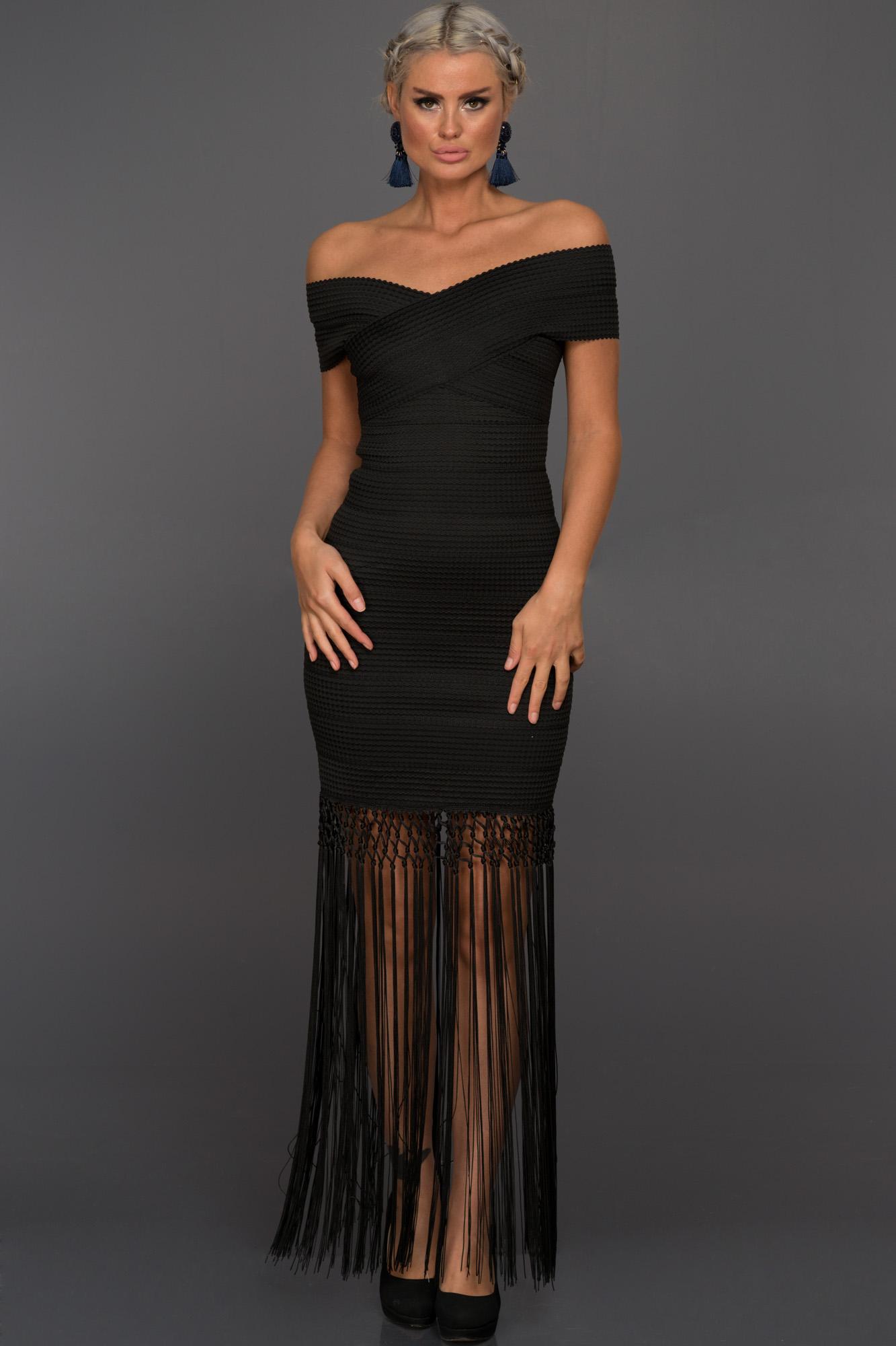 Uzun Siyah Özel Tasarım Elbise