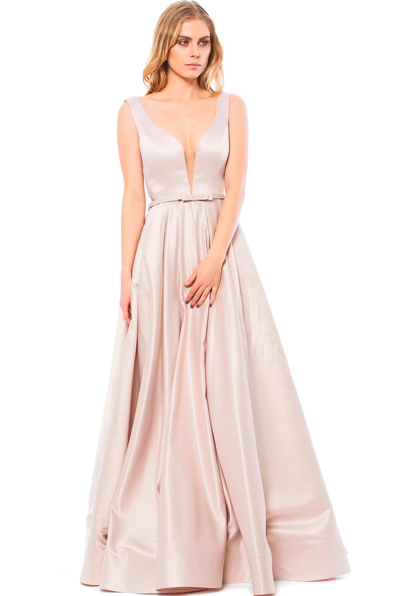 Fotos prenses elbise modelleri picture - Vizon Prenses Uzun Abiye Alk6145