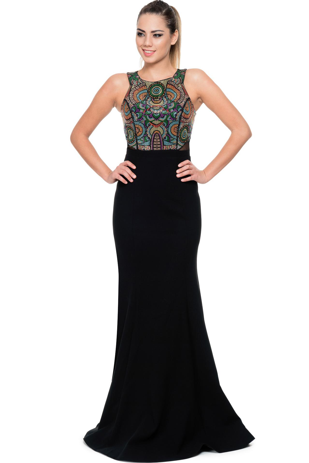 Fotos 2013 arkas uzun elbise abiye modelleri picture - Uzun Siyah Renkli Bal K Abiye Elbise Gg6874