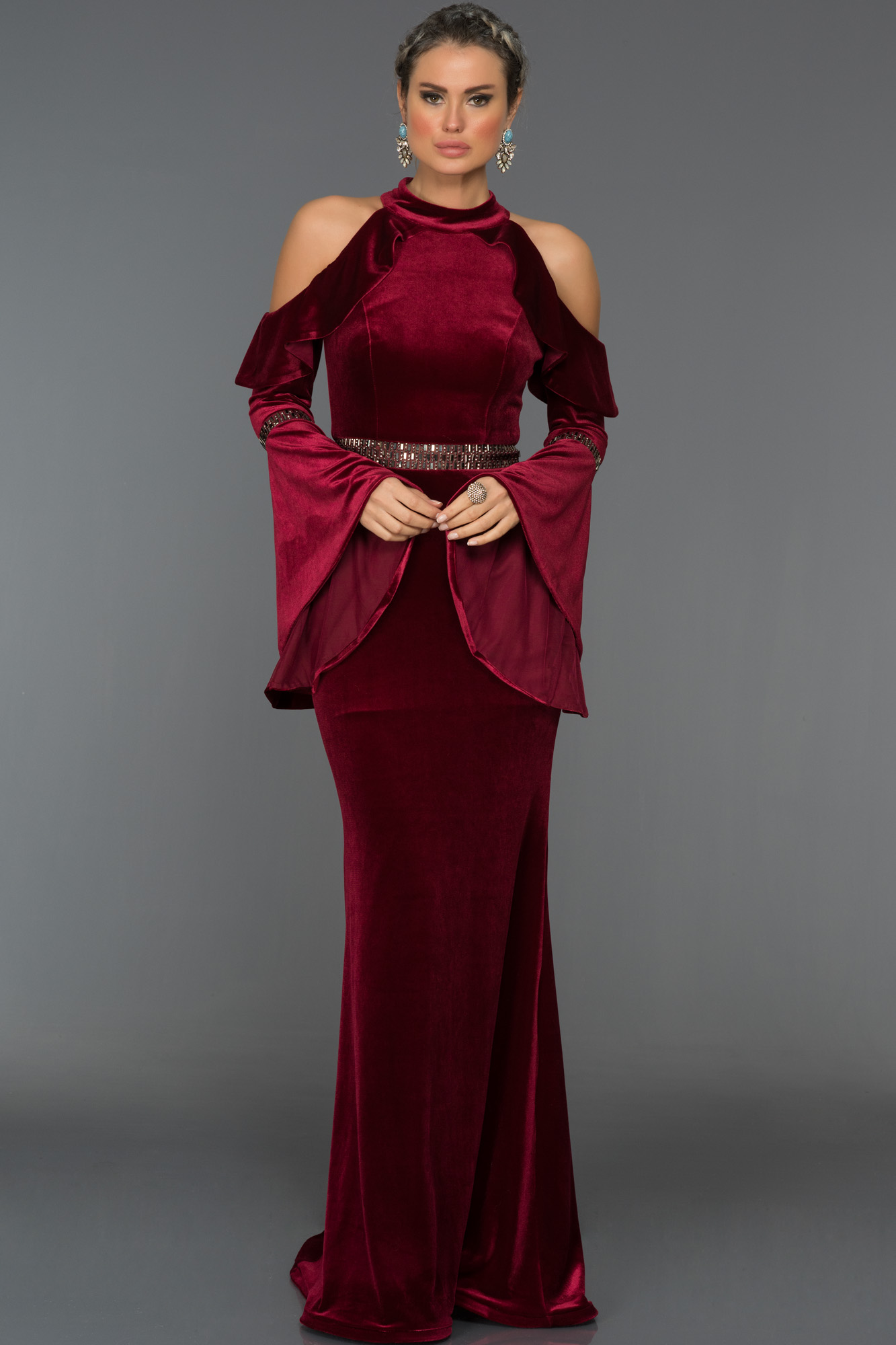 Bacak Dekolteli Abiye Elbiseler